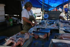 Fischverkäuferin in Marsaxlokk