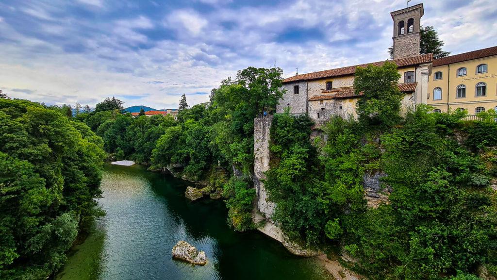 Blick von der Teufelsbrücke in Cividale