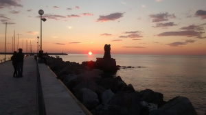 Abendstimmung Viareggio Toskana Italien
