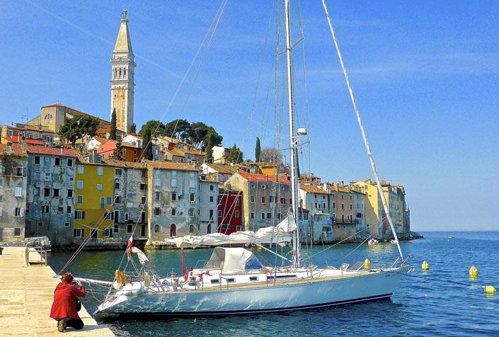 Yacht in Rovinj Kroatien