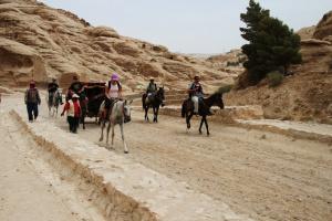 Auf dem Weg zur Felsenstadt Petra