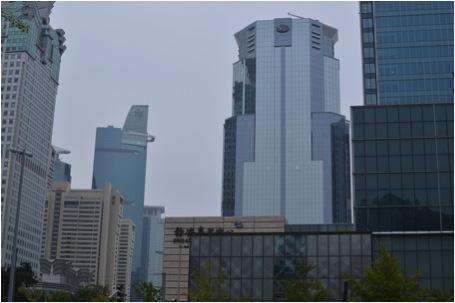 Leere Bürogebäude in Shanghai