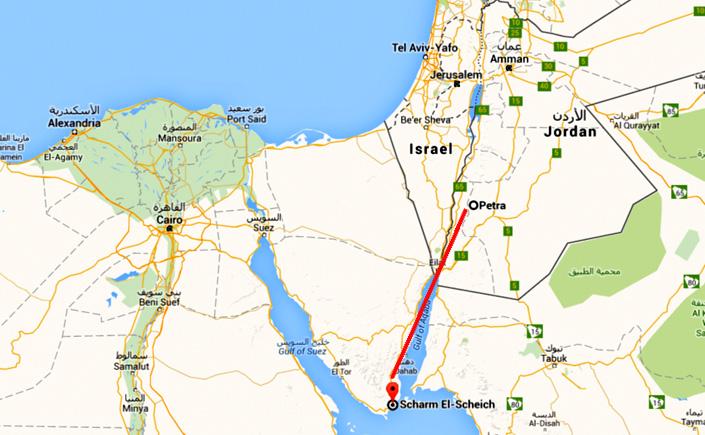 Von Sharm el Sheikh nach Petra