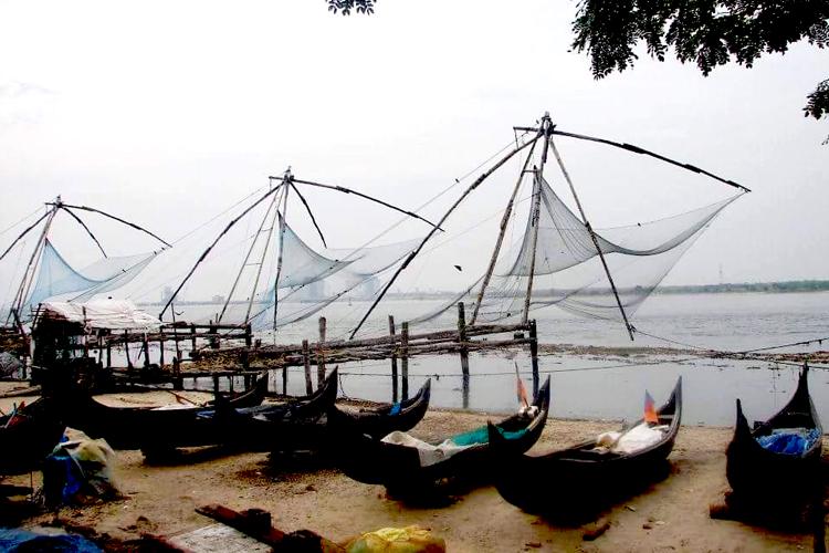 Fischernetze in Cochin Indien