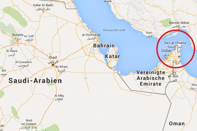 Wo liegt Ras Al Khaimah