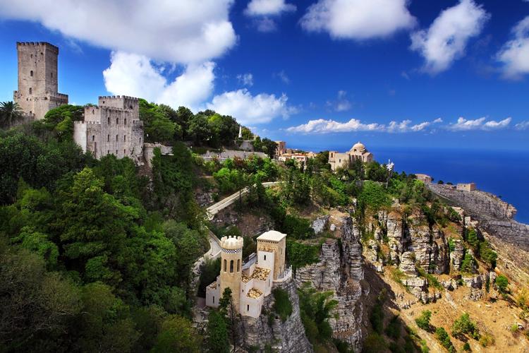 Ausblick von Erice - Sizilien