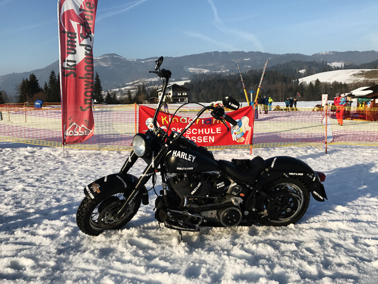 Harley on Snow in Kössen
