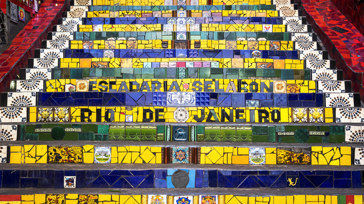 Escadaria Selaron Santat Teresa Lapa