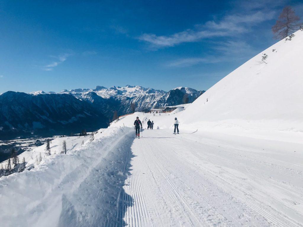 Skifahrer & Tourengeher am Loser