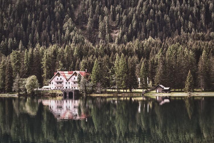 Antholzer See in Südtirol