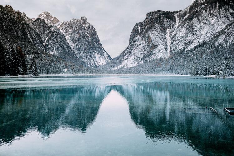 Toblacher See in Südtirol
