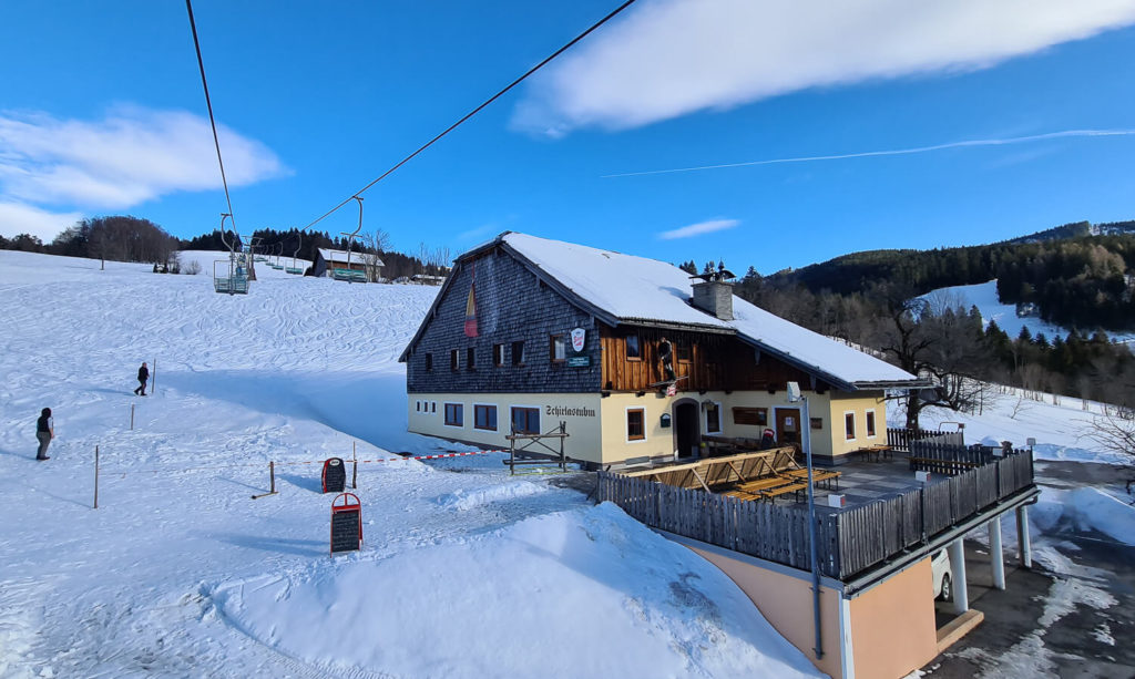 Schirla Stubm Skigebiet Gaissau Hintersee