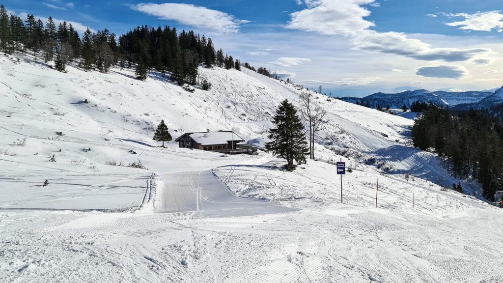 Latschenalm am Wieserhörndl Skigebiet Gaissau Hintersee