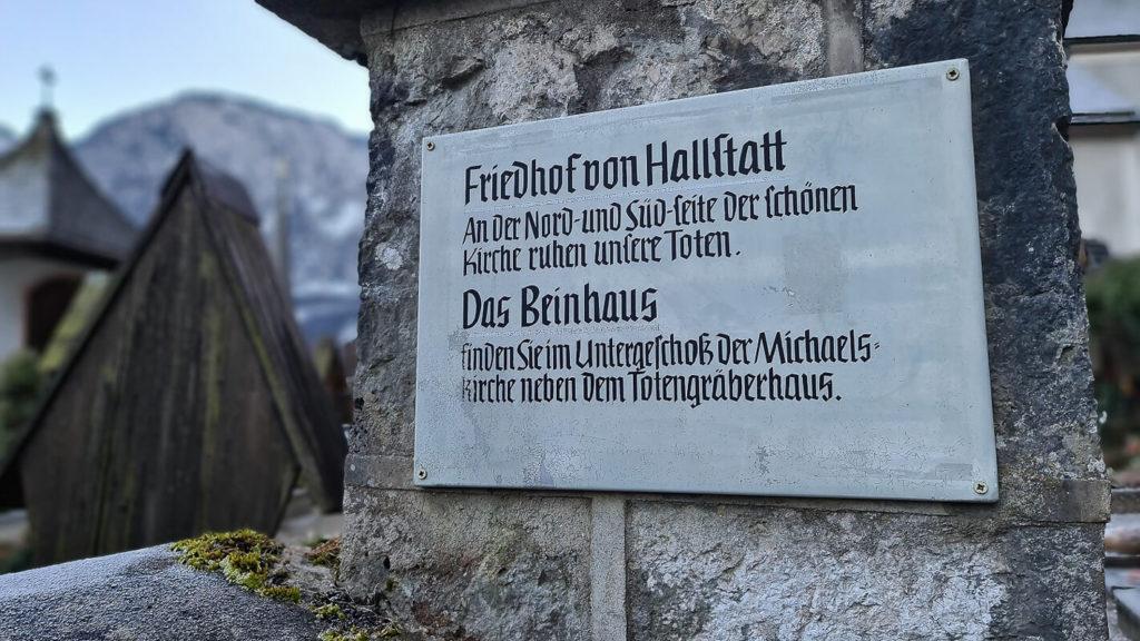 Weg zum Beinhaus in Hallstatt